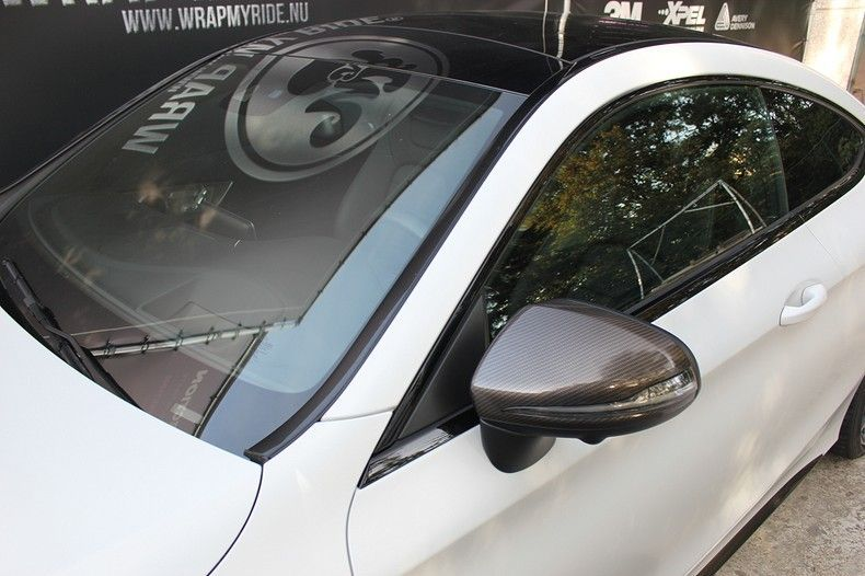 Mercedes C-coupe Satin ghost flip, Carwrapping door Wrapmyride.nu Foto-nr:11889, ©2021