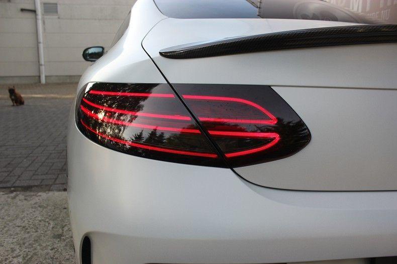 Mercedes C-coupe Satin ghost flip, Carwrapping door Wrapmyride.nu Foto-nr:11881, ©2021
