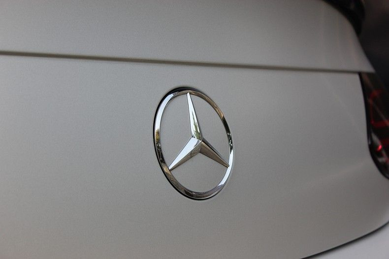 Mercedes C-coupe Satin ghost flip, Carwrapping door Wrapmyride.nu Foto-nr:11879, ©2021