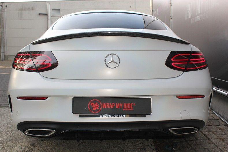 Mercedes C-coupe Satin ghost flip, Carwrapping door Wrapmyride.nu Foto-nr:11878, ©2021