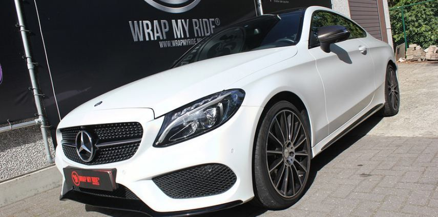 Mercedes C-coupe Satin ghost flip