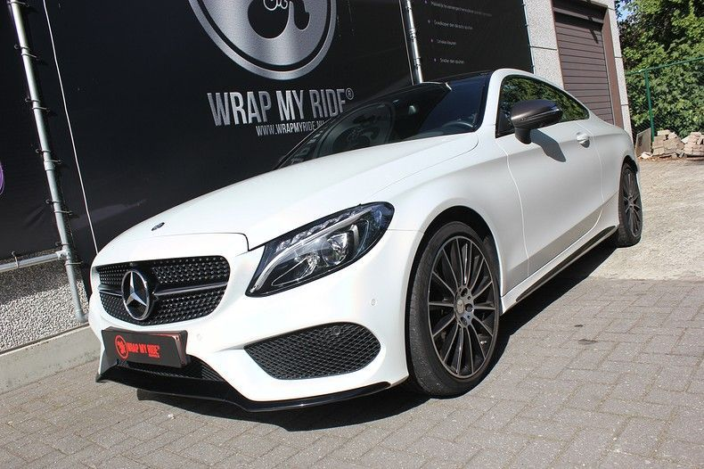 Mercedes C-coupe Satin ghost flip, Carwrapping door Wrapmyride.nu Foto-nr:11859, ©2021