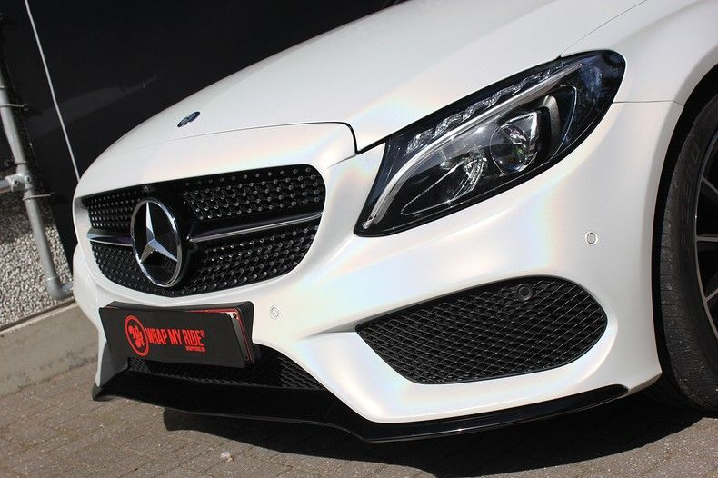 Mercedes C-coupe Satin ghost flip, Carwrapping door Wrapmyride.nu Foto-nr:11858, ©2021