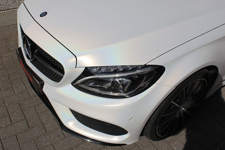 Mercedes C-coupe Satin ghost flip, Carwrapping door Wrapmyride.nu Foto-nr:11856, ©2021