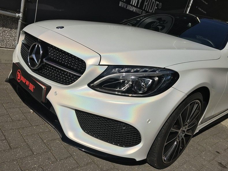 Mercedes C-coupe Satin ghost flip, Carwrapping door Wrapmyride.nu Foto-nr:11851, ©2021