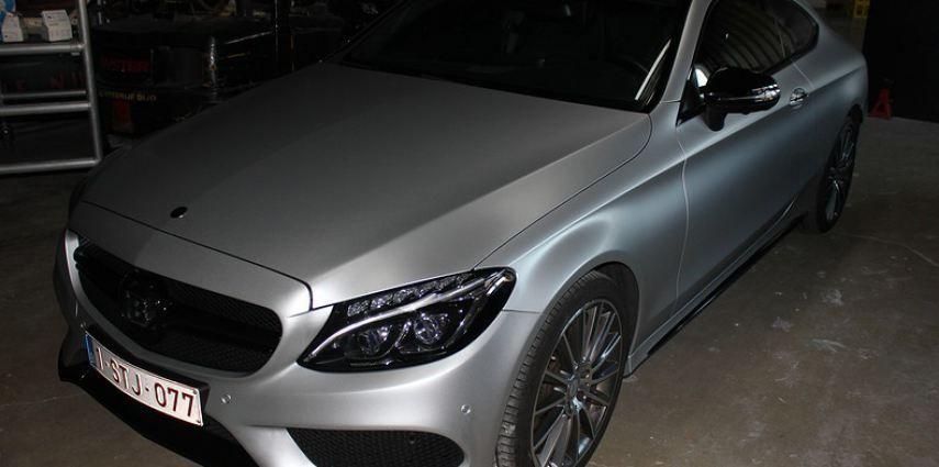 Mercedes C-coupe satin white aluminium