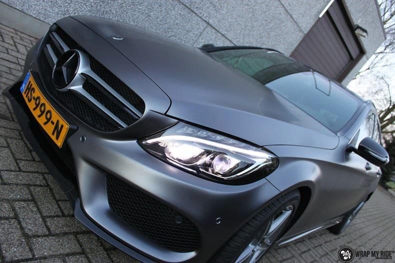 Mercedes C350e AMG, Carwrapping door Wrapmyride.nu Foto-nr:8613, ©2021