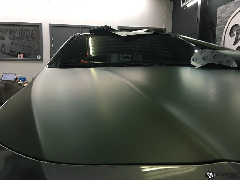 Mercedes CLA custom Camo wrap, Carwrapping door Wrapmyride.nu Foto-nr:10046, ©2019