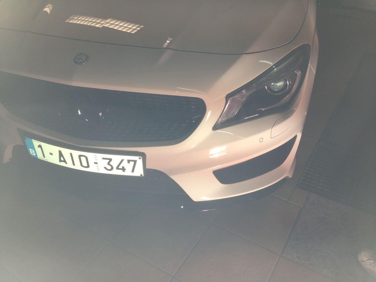Mercedes CLA in Witte Wrap met Zwarte Accenten, Carwrapping door Wrapmyride.nu Foto-nr:6085, ©2018