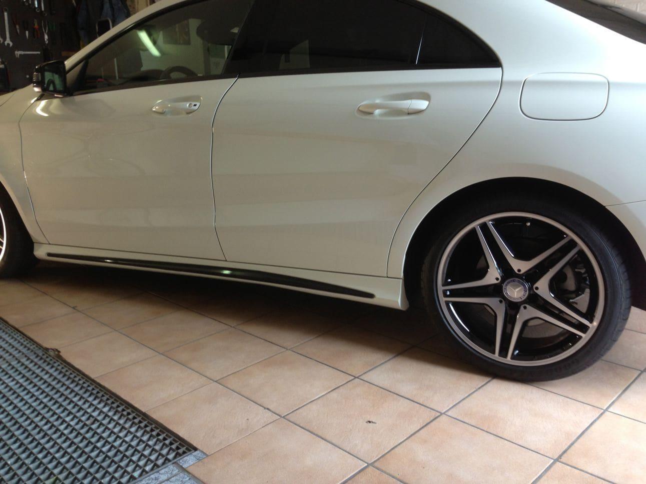 Mercedes CLA in Witte Wrap met Zwarte Accenten, Carwrapping door Wrapmyride.nu Foto-nr:6086, ©2018