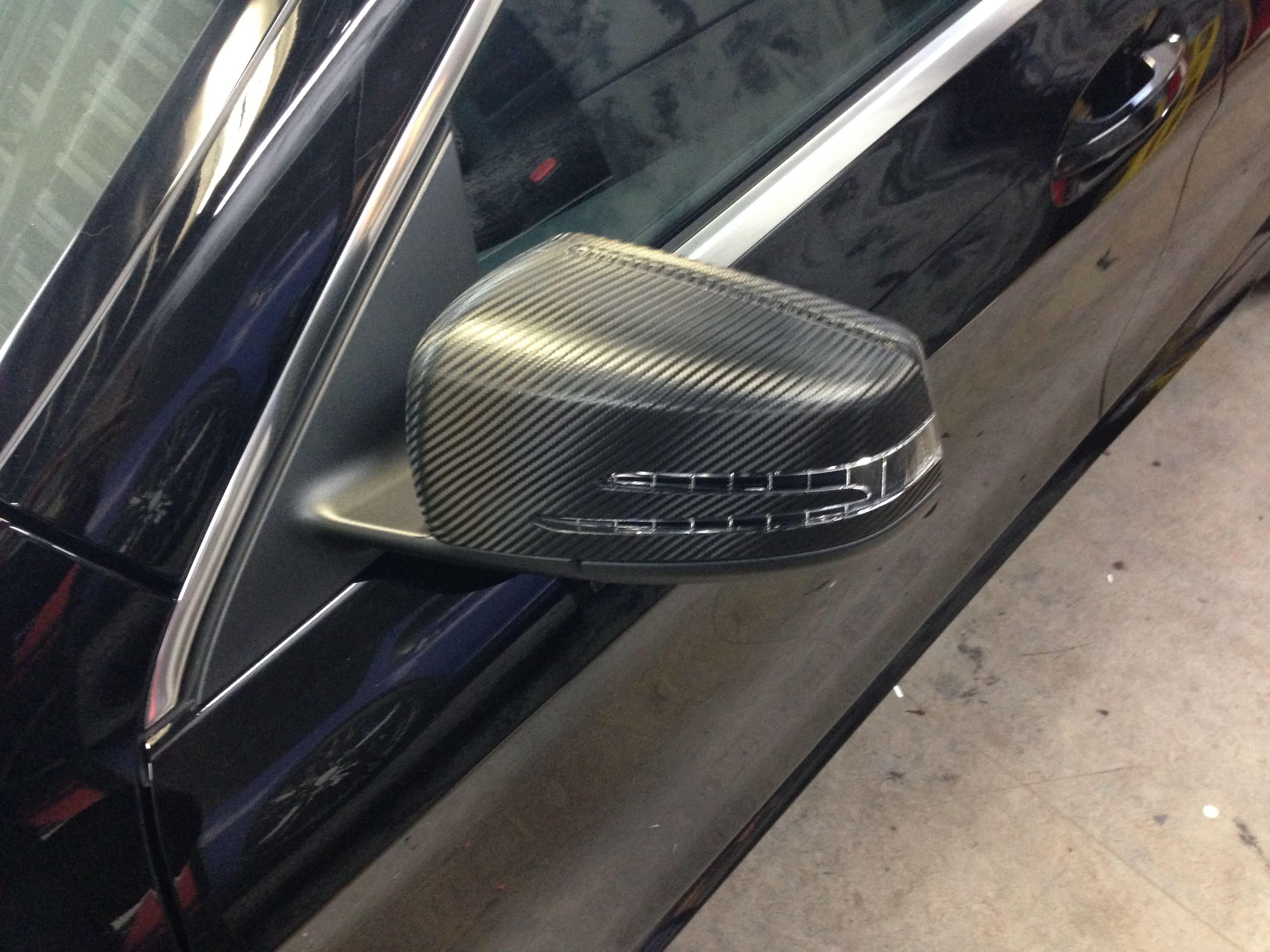 Mercedes CLA met Carbon Accenten, Carwrapping door Wrapmyride.nu Foto-nr:6095, ©2020