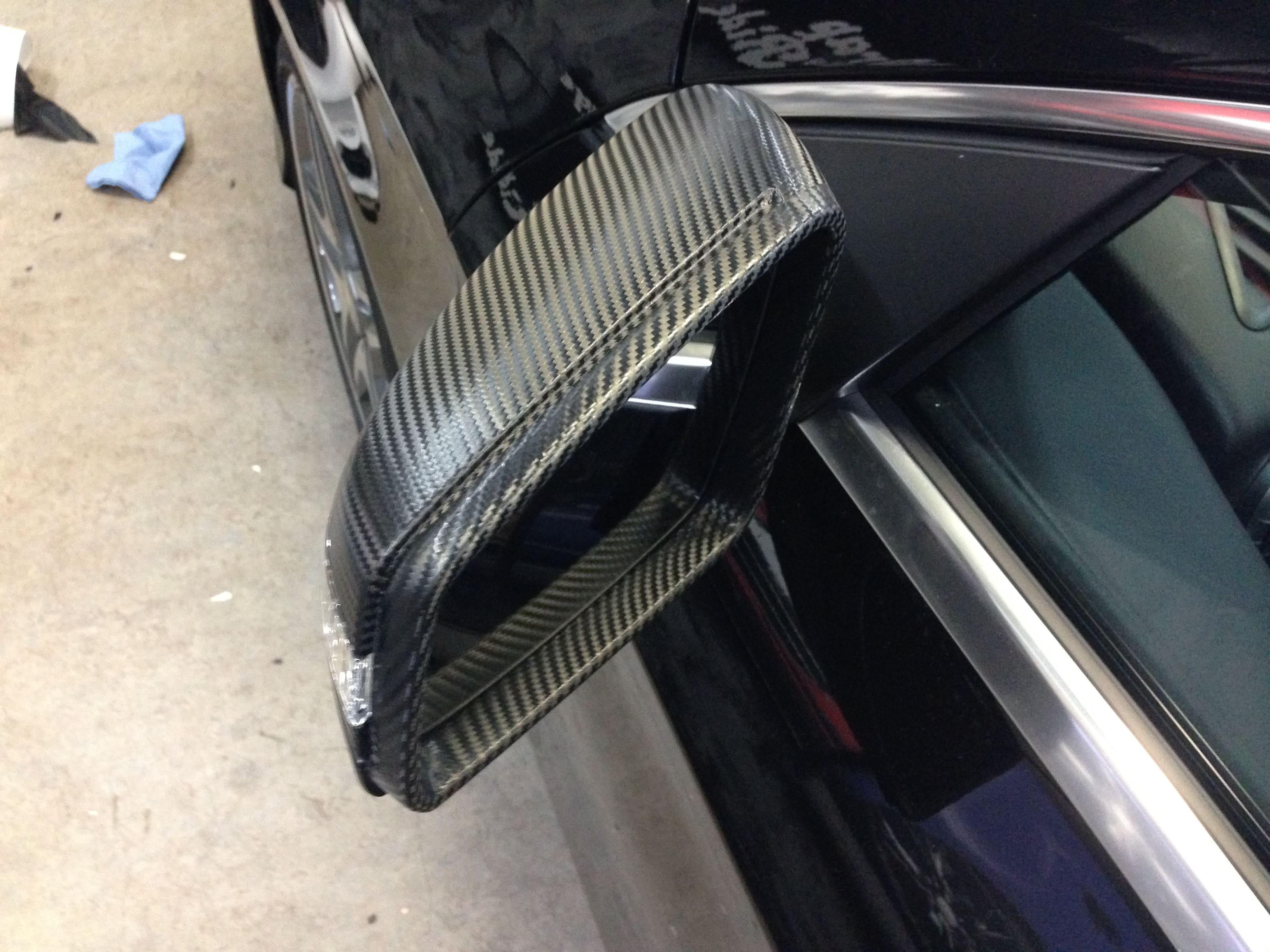 Mercedes CLA met Carbon Accenten, Carwrapping door Wrapmyride.nu Foto-nr:6096, ©2020