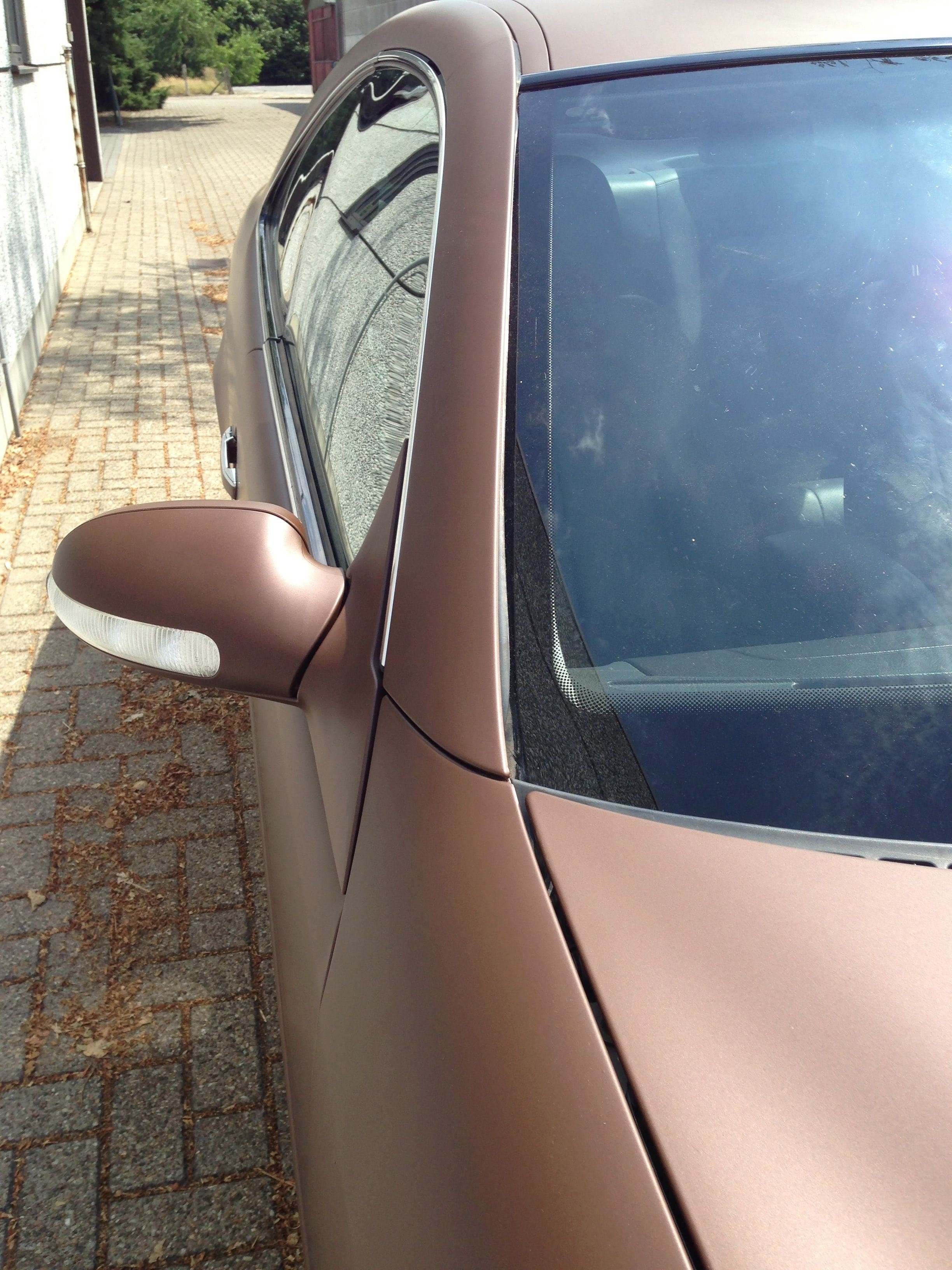 Mercedes CLK 320 met Mat Bruine Wrap, Carwrapping door Wrapmyride.nu Foto-nr:6120, ©2021