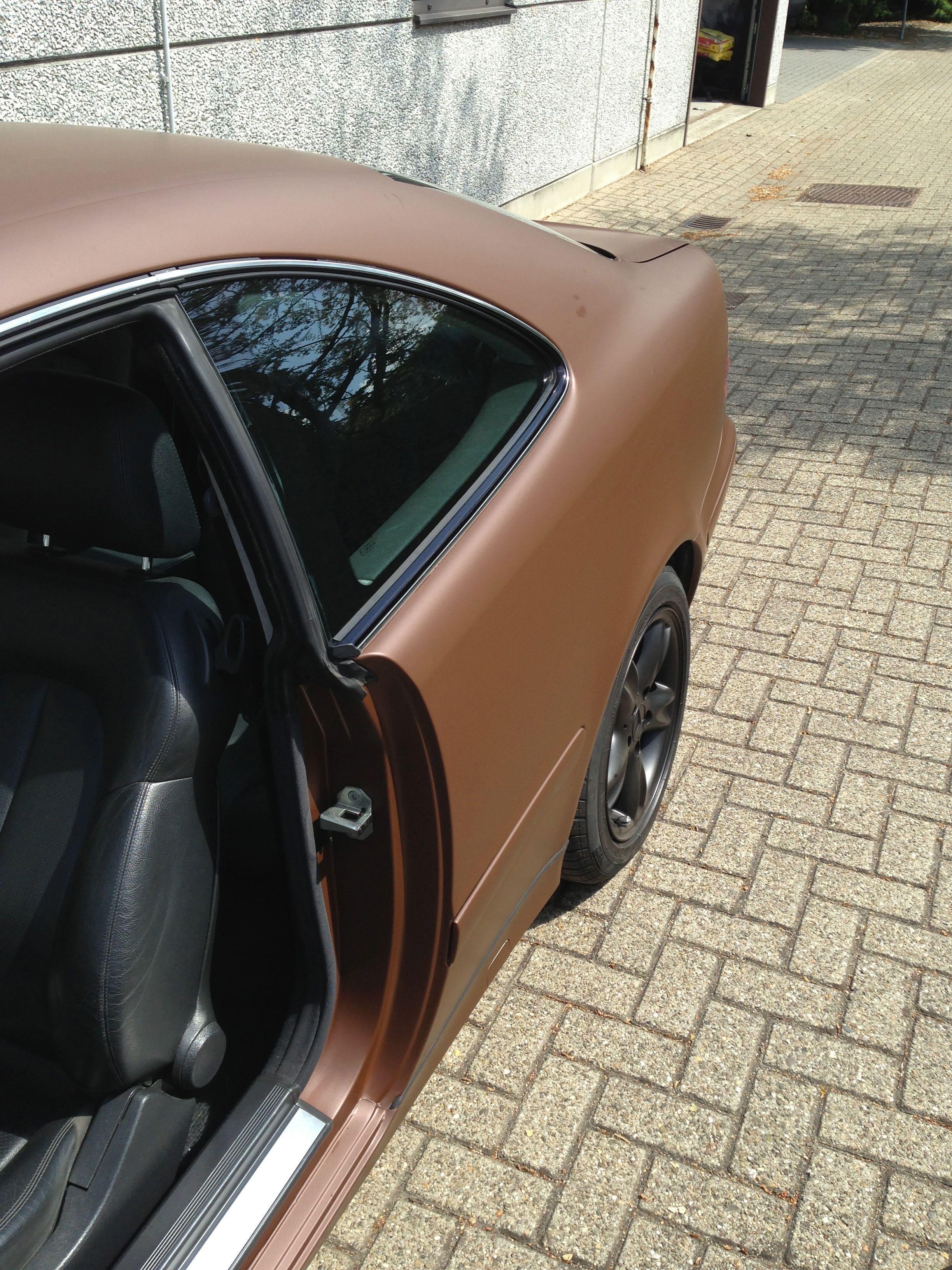 Mercedes CLK 320 met Mat Bruine Wrap, Carwrapping door Wrapmyride.nu Foto-nr:6123, ©2020