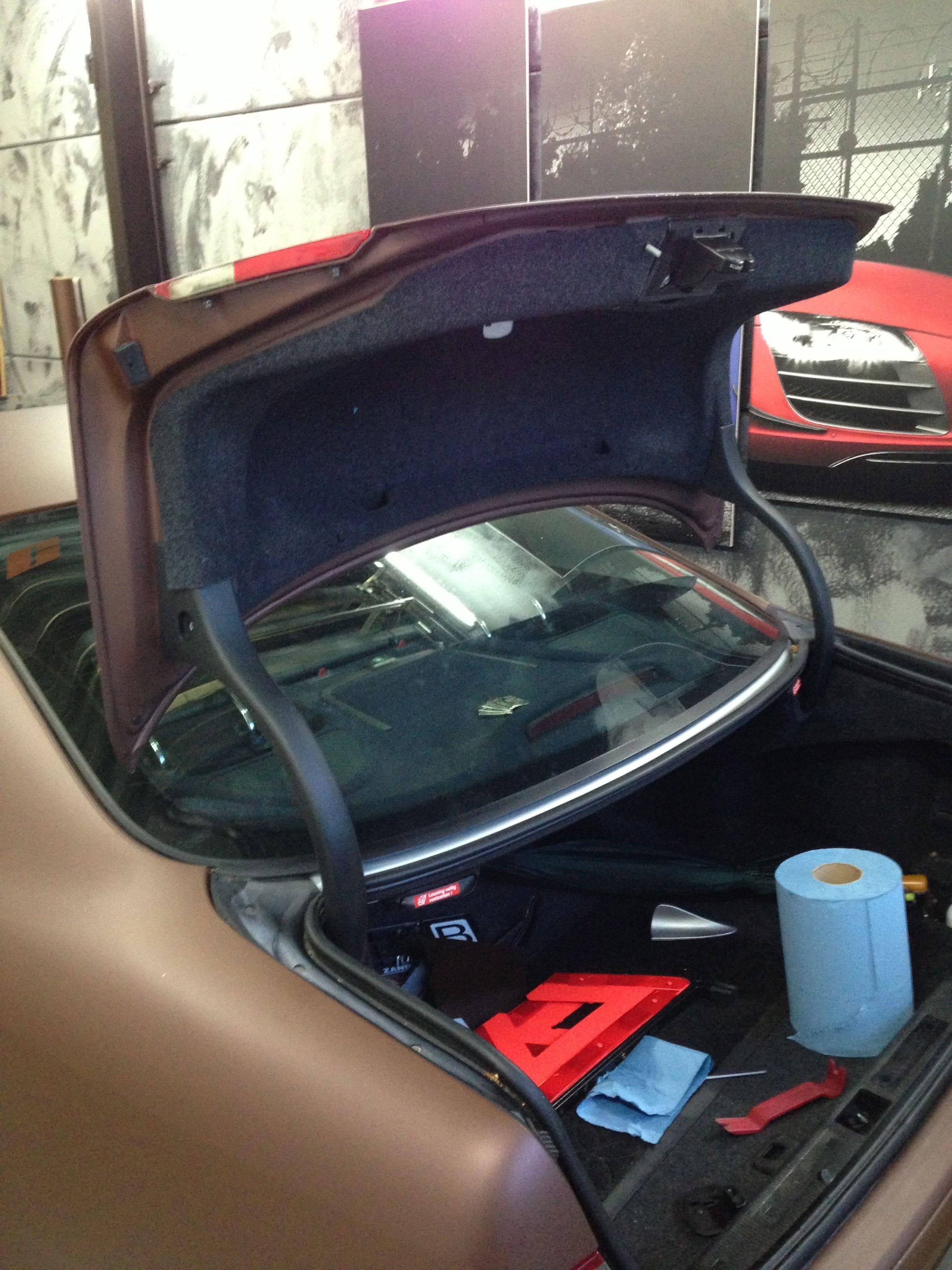 Mercedes CLK 320 met Mat Bruine Wrap, Carwrapping door Wrapmyride.nu Foto-nr:6124, ©2020