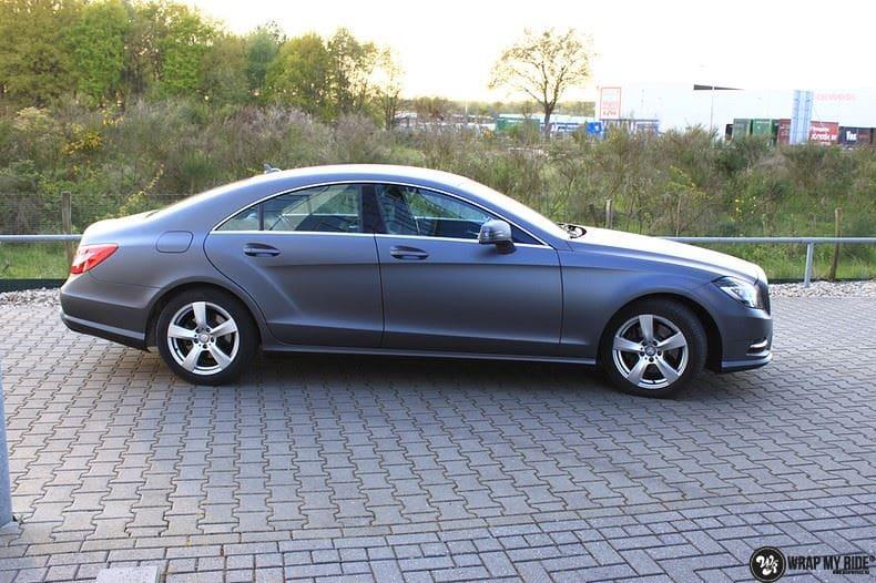 Mercedes CLS matte dark grey, Carwrapping door Wrapmyride.nu Foto-nr:8901, ©2021
