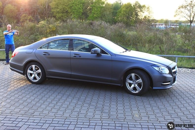 Mercedes CLS matte dark grey, Carwrapping door Wrapmyride.nu Foto-nr:8900, ©2018