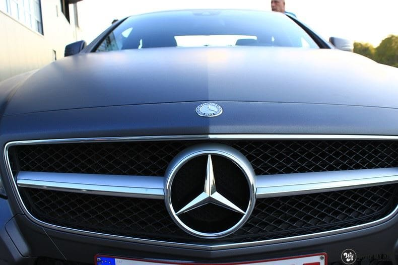 Mercedes CLS matte dark grey, Carwrapping door Wrapmyride.nu Foto-nr:8894, ©2021