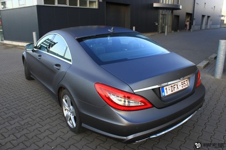 Mercedes CLS matte dark grey, Carwrapping door Wrapmyride.nu Foto-nr:8893, ©2018