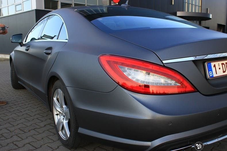 Mercedes CLS matte dark grey, Carwrapping door Wrapmyride.nu Foto-nr:8892, ©2018