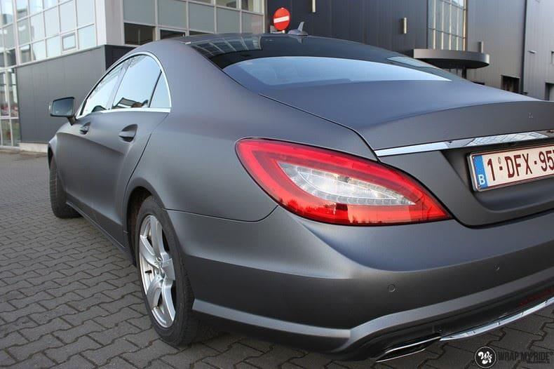 Mercedes CLS matte dark grey, Carwrapping door Wrapmyride.nu Foto-nr:8891, ©2021