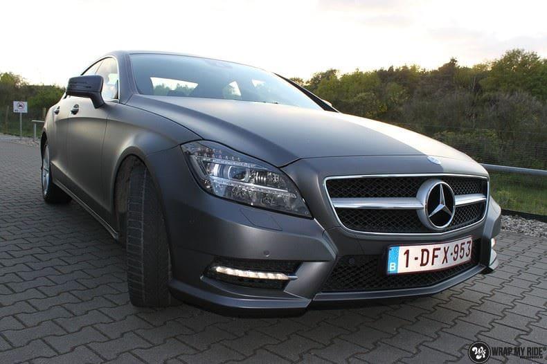 Mercedes CLS matte dark grey, Carwrapping door Wrapmyride.nu Foto-nr:8890, ©2021