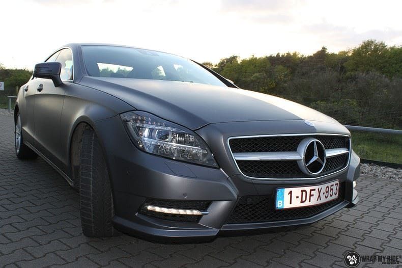 Mercedes CLS matte dark grey, Carwrapping door Wrapmyride.nu Foto-nr:8889, ©2020