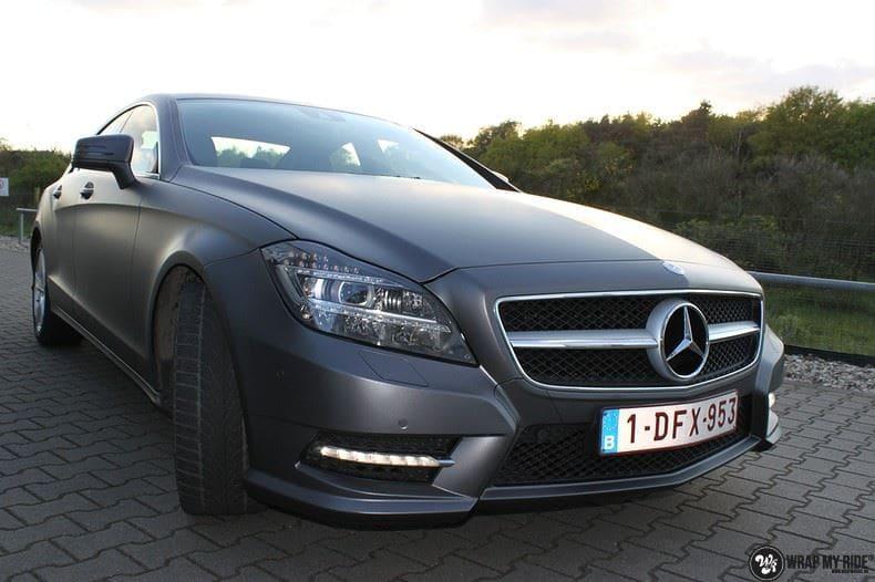 Mercedes CLS matte dark grey, Carwrapping door Wrapmyride.nu Foto-nr:8889, ©2021