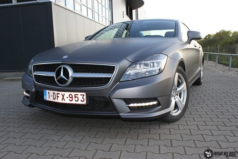 Mercedes CLS matte dark grey, Carwrapping door Wrapmyride.nu Foto-nr:8888, ©2018