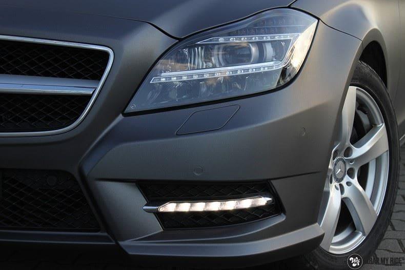 Mercedes CLS matte dark grey, Carwrapping door Wrapmyride.nu Foto-nr:8887, ©2021
