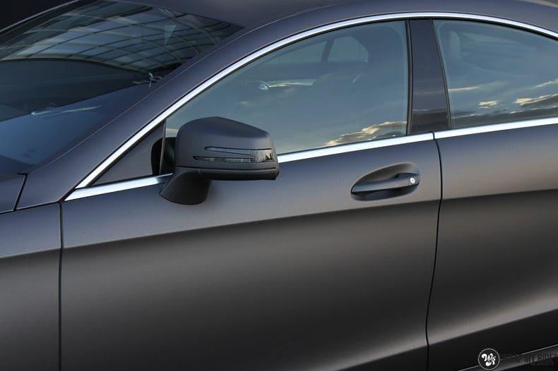 Mercedes CLS matte dark grey, Carwrapping door Wrapmyride.nu Foto-nr:8885, ©2021