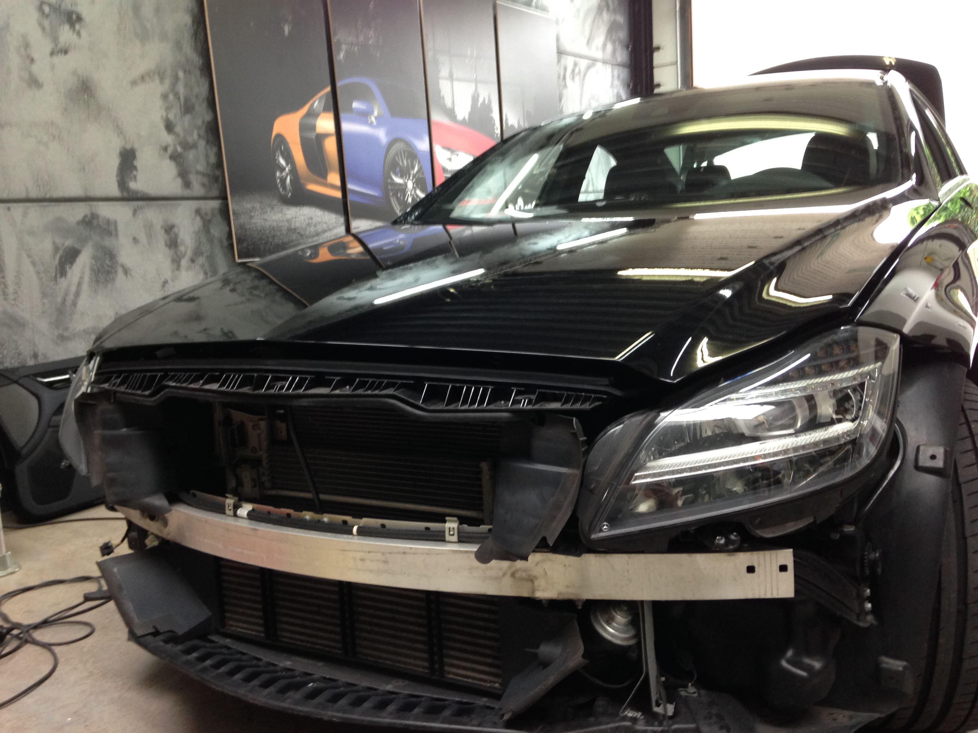 Mercedes CLS met Mat Grey Aluminium Wrap, Carwrapping door Wrapmyride.nu Foto-nr:6127, ©2020