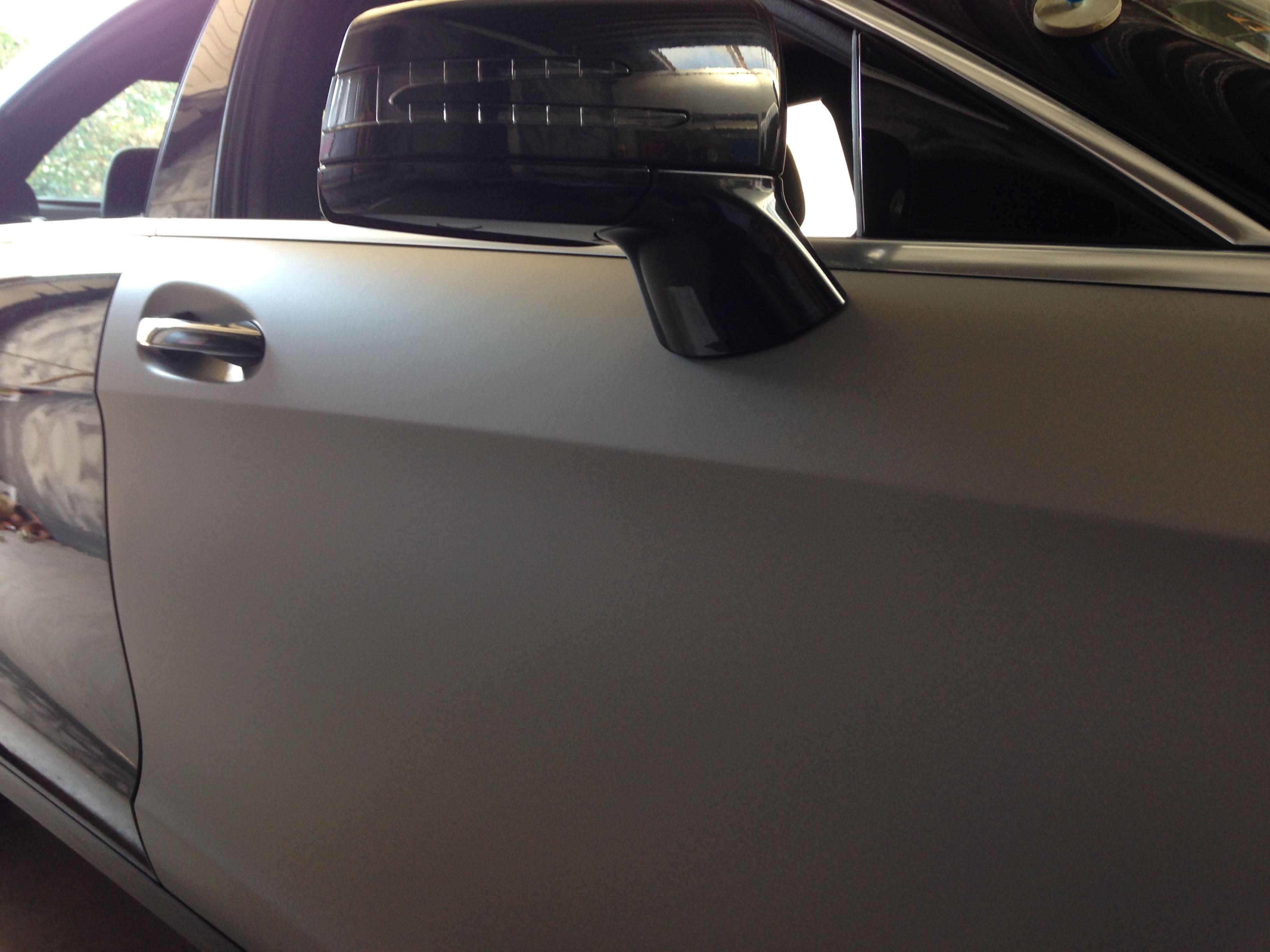 Mercedes CLS met Mat Grey Aluminium Wrap, Carwrapping door Wrapmyride.nu Foto-nr:6129, ©2020