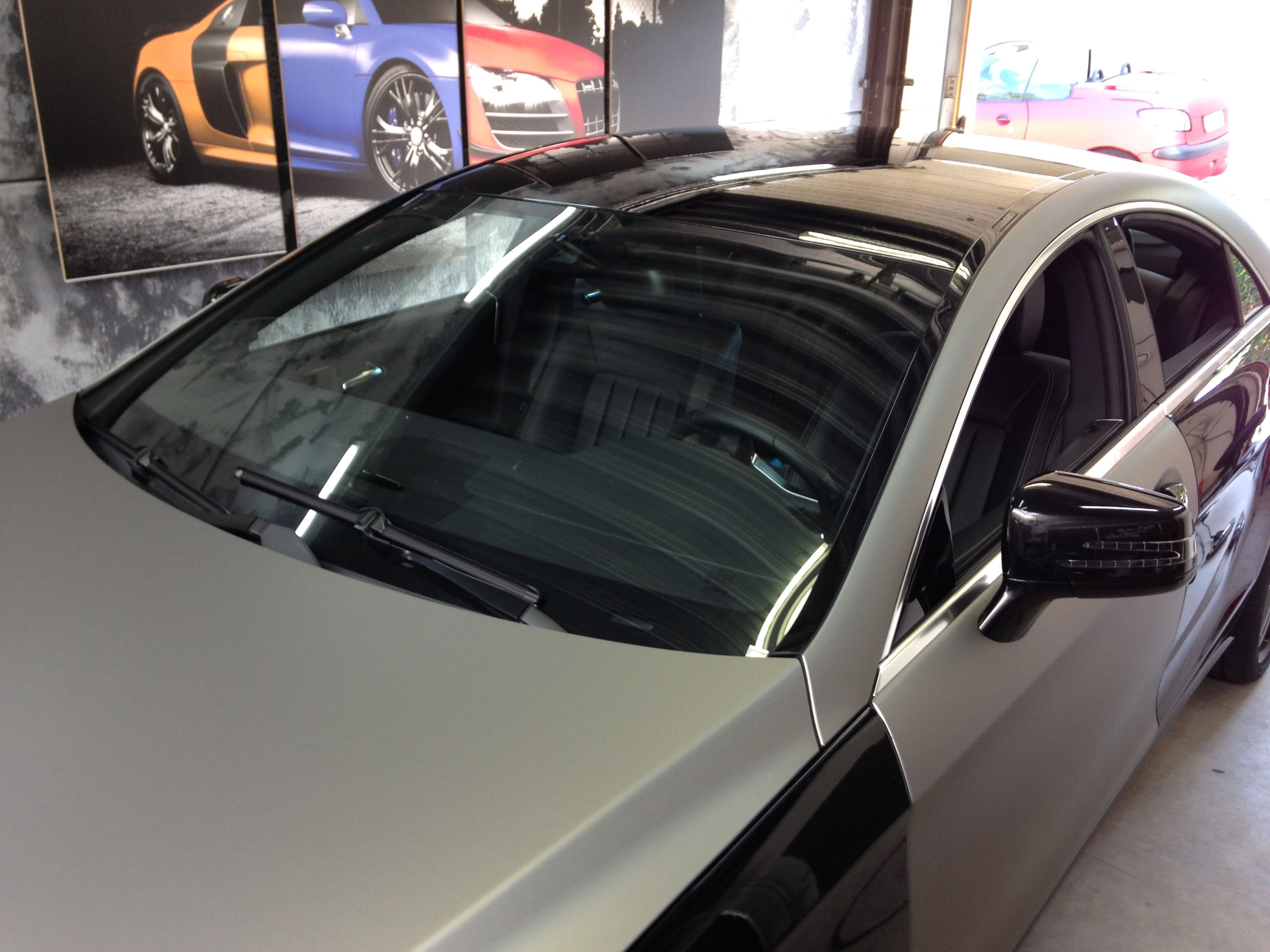 Mercedes CLS met Mat Grey Aluminium Wrap, Carwrapping door Wrapmyride.nu Foto-nr:6130, ©2020