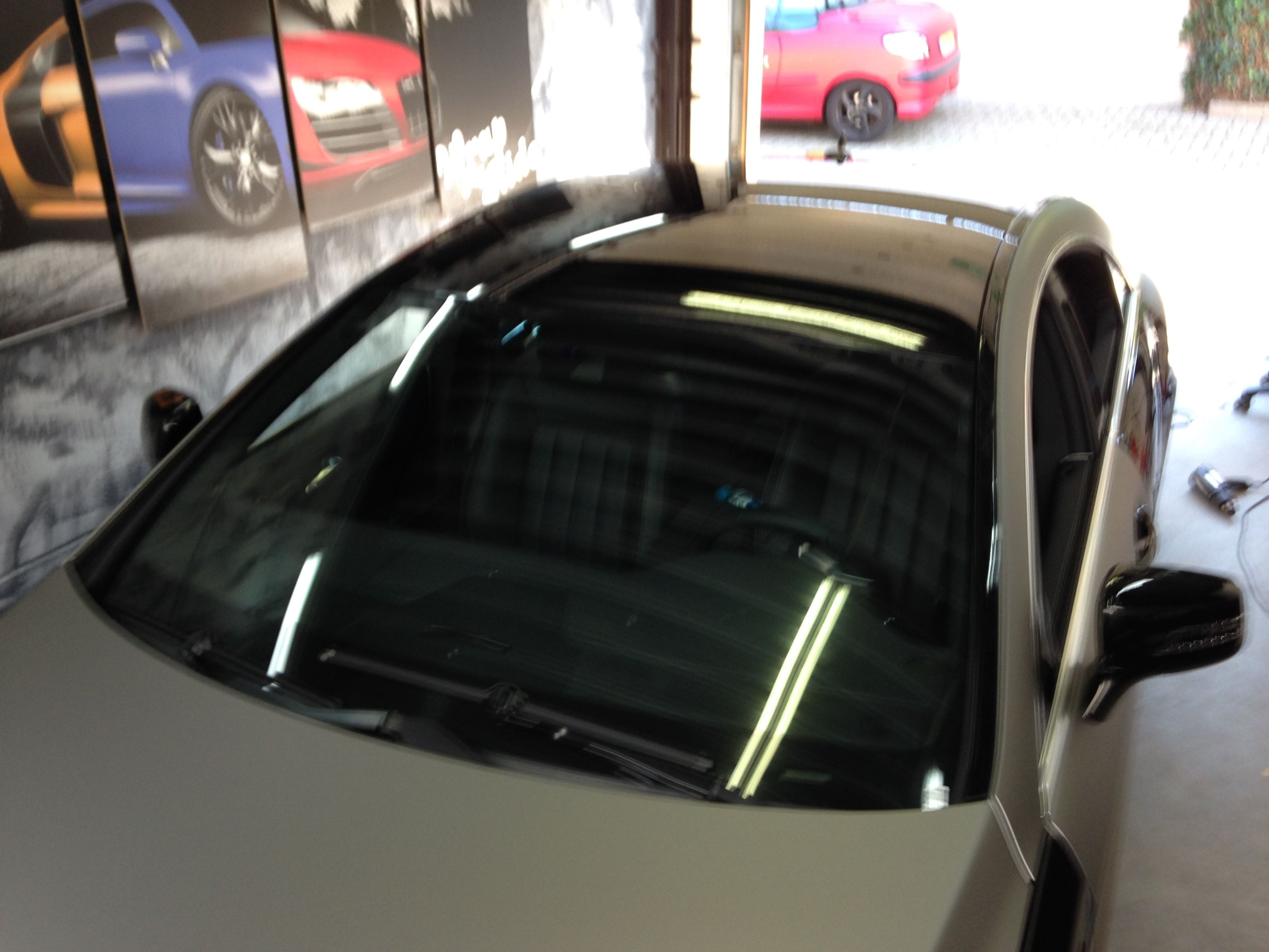 Mercedes CLS met Mat Grey Aluminium Wrap, Carwrapping door Wrapmyride.nu Foto-nr:6131, ©2020