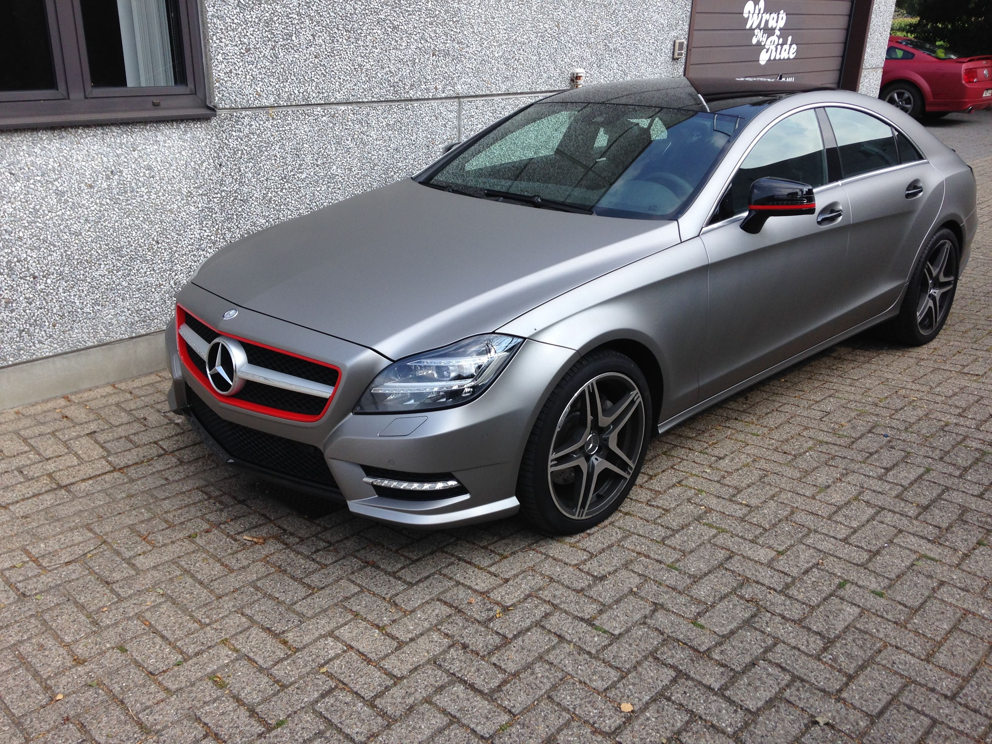 Mercedes CLS met Mat Grey Aluminium Wrap, Carwrapping door Wrapmyride.nu Foto-nr:6138, ©2020