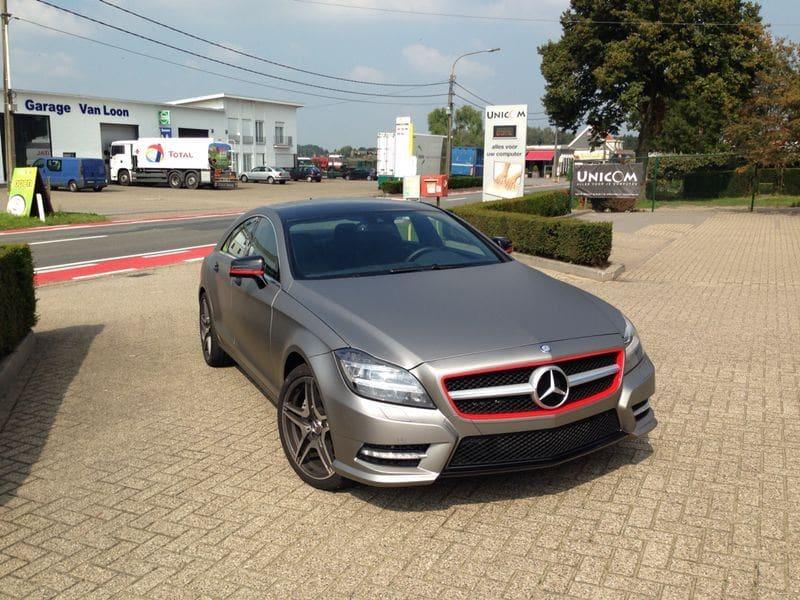 Mercedes CLS met Mat Grey Aluminium Wrap, Carwrapping door Wrapmyride.nu Foto-nr:6141, ©2020