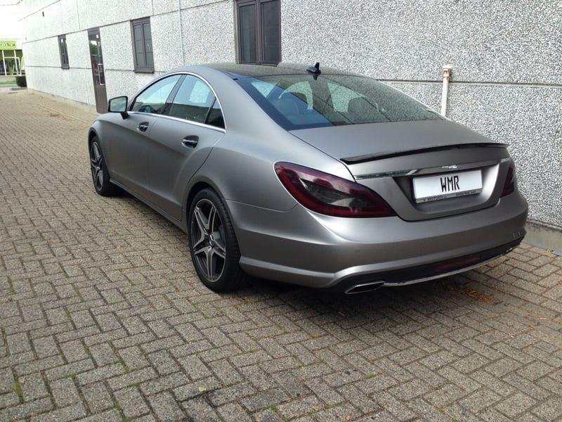 Mercedes CLS met Mat Grey Aluminium Wrap, Carwrapping door Wrapmyride.nu Foto-nr:6142, ©2020