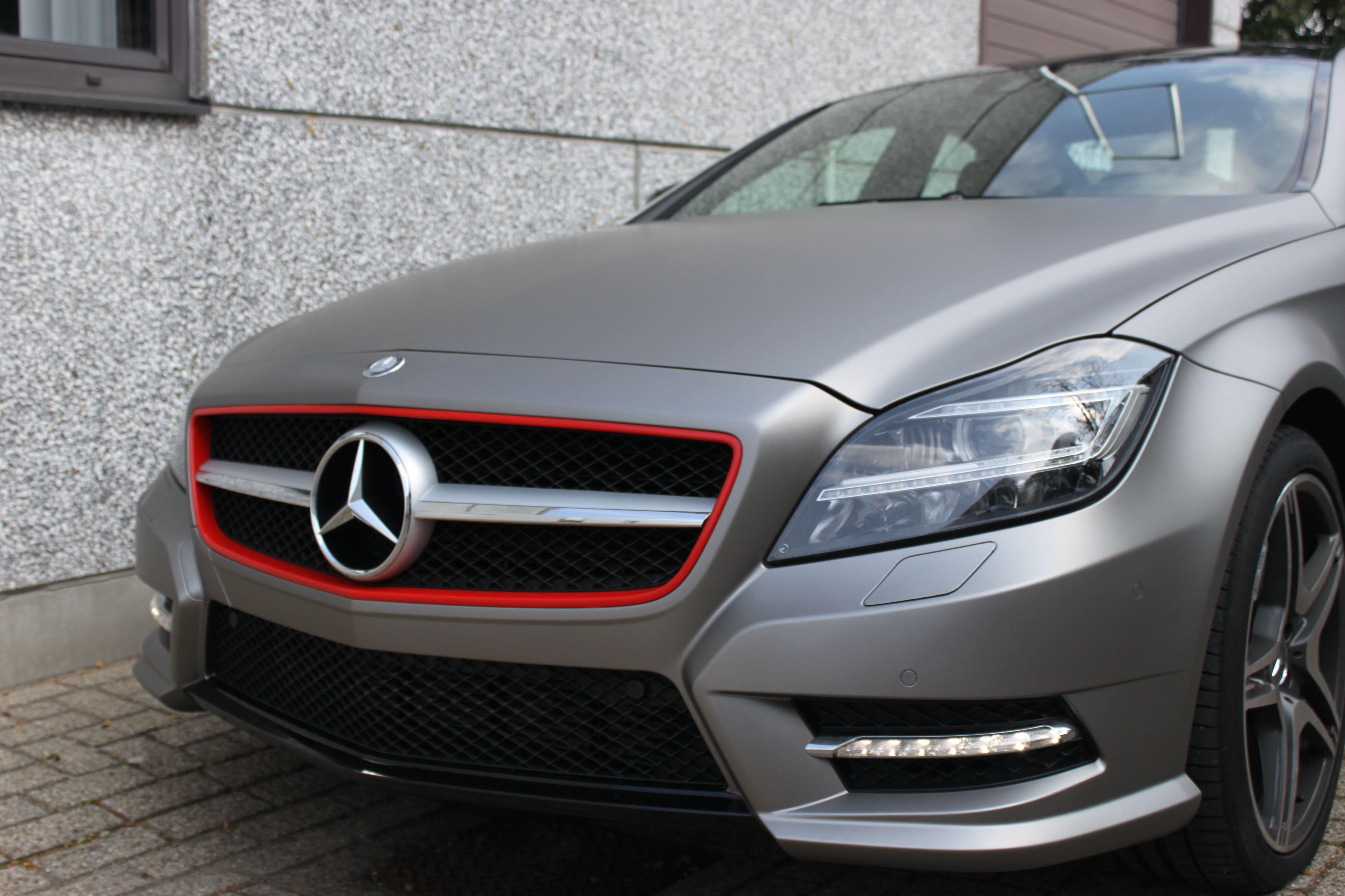 Mercedes CLS met Mat Grey Aluminium Wrap, Carwrapping door Wrapmyride.nu Foto-nr:6144, ©2020