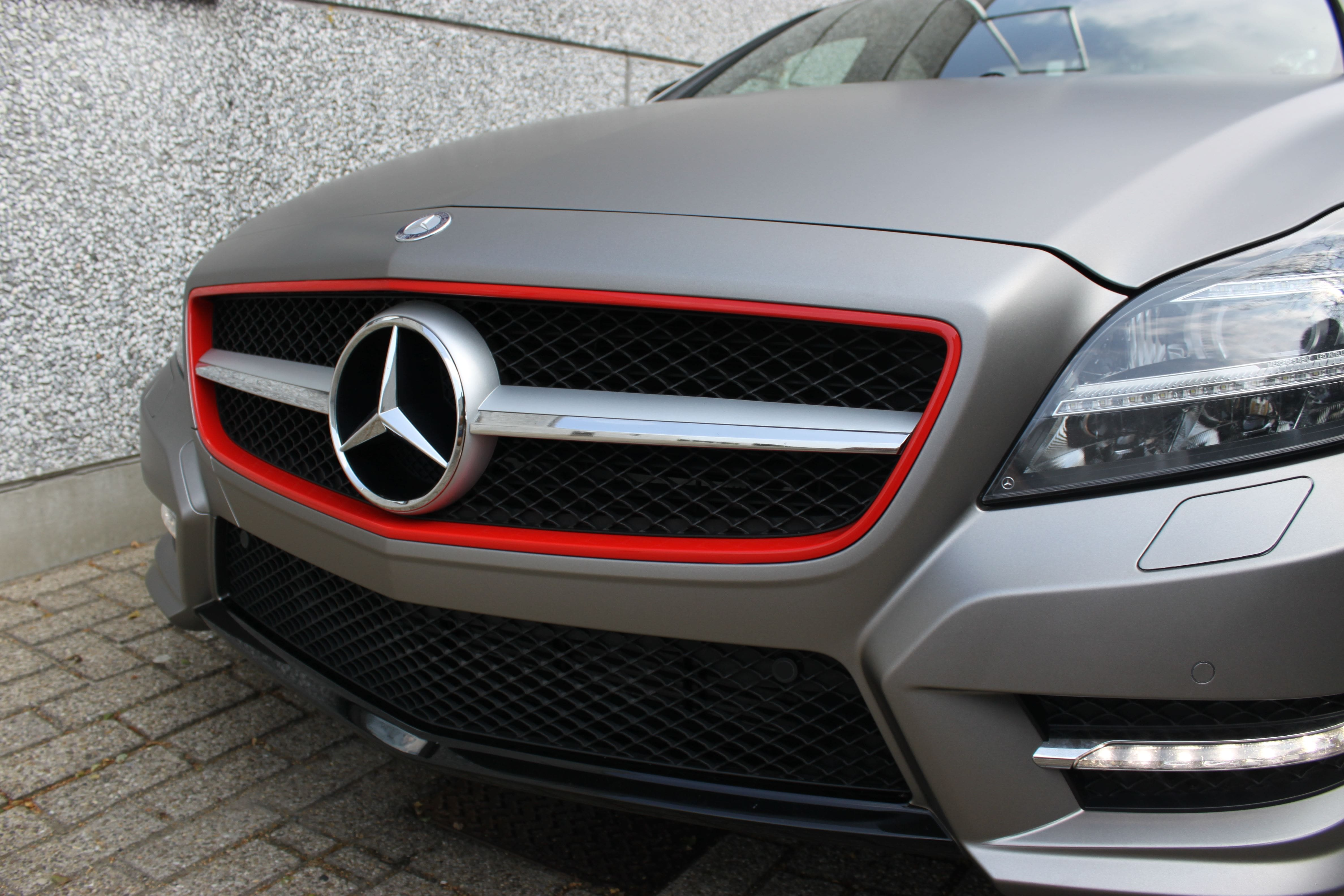 Mercedes CLS met Mat Grey Aluminium Wrap, Carwrapping door Wrapmyride.nu Foto-nr:6145, ©2020