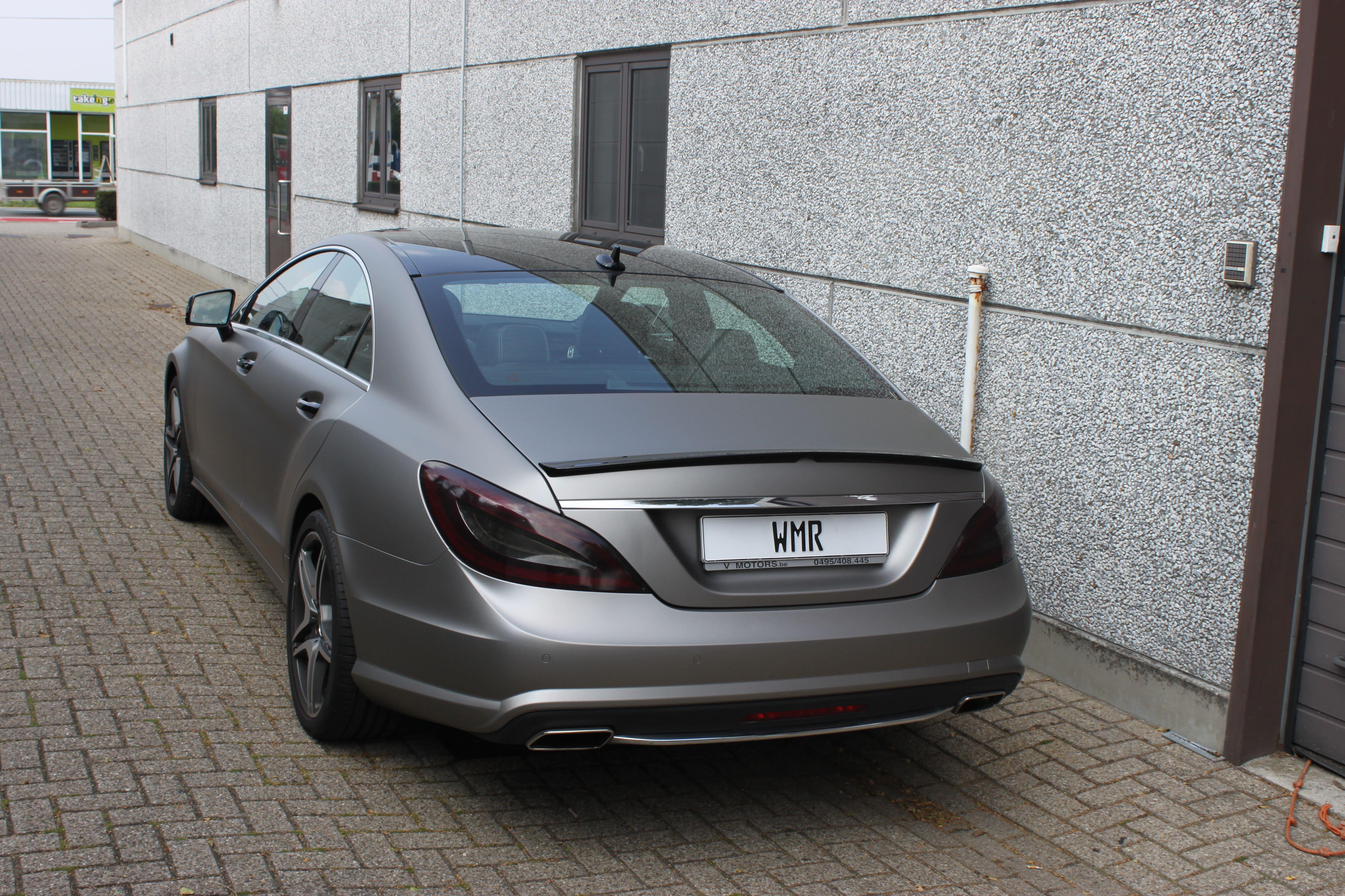 Mercedes CLS met Mat Grey Aluminium Wrap, Carwrapping door Wrapmyride.nu Foto-nr:6151, ©2020