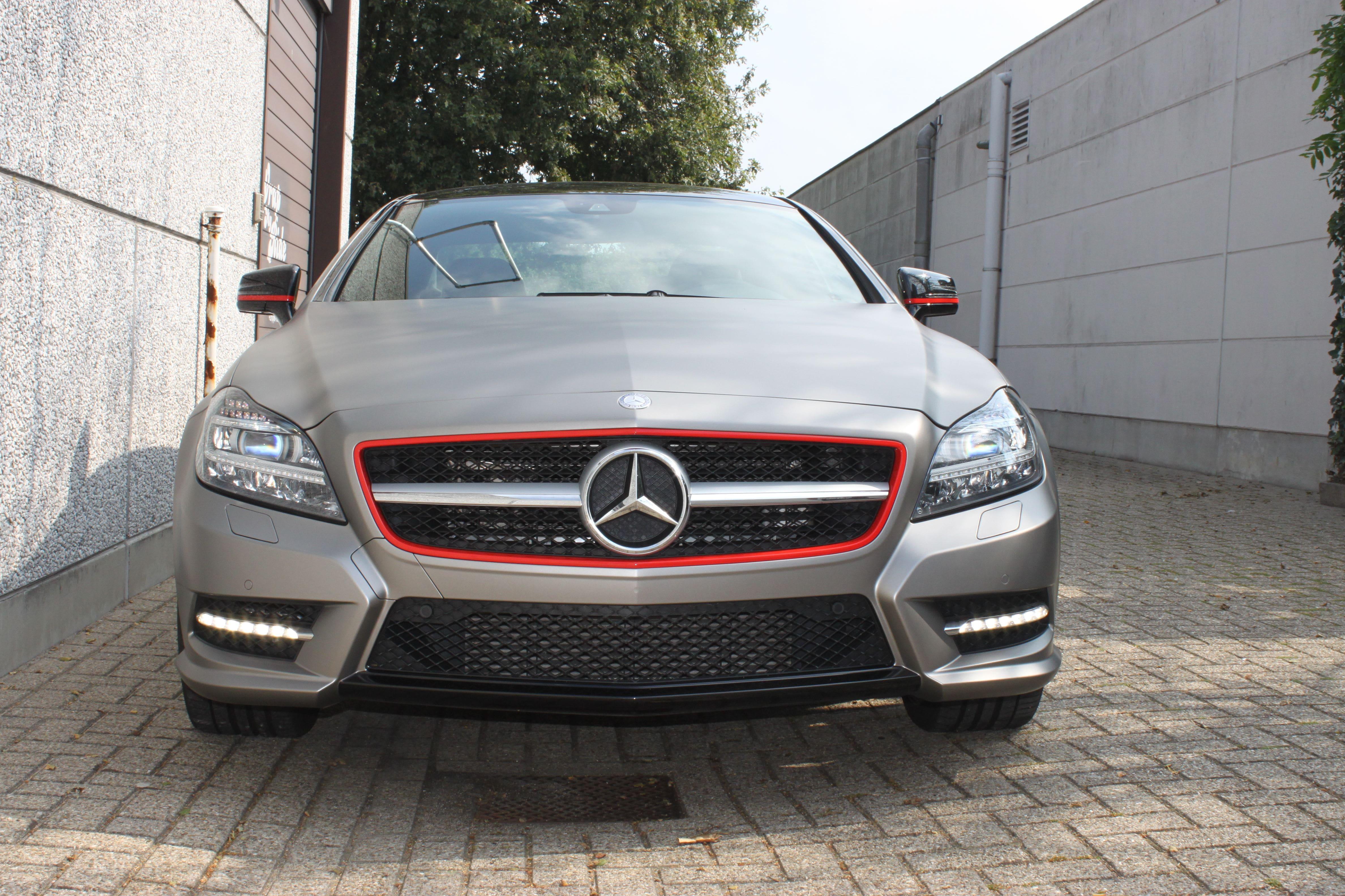 Mercedes CLS met Mat Grey Aluminium Wrap, Carwrapping door Wrapmyride.nu Foto-nr:6152, ©2020