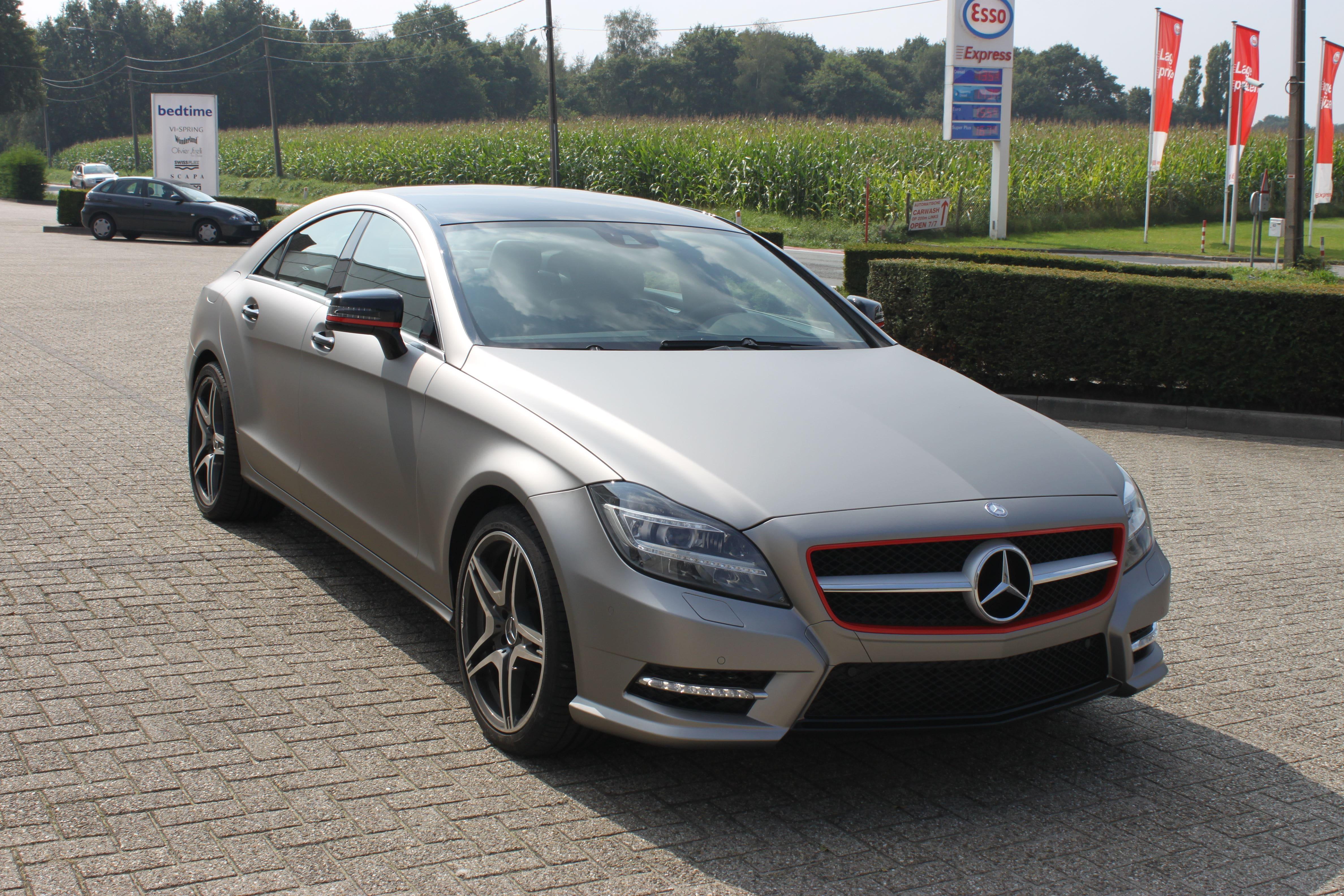 Mercedes CLS met Mat Grey Aluminium Wrap, Carwrapping door Wrapmyride.nu Foto-nr:6155, ©2020