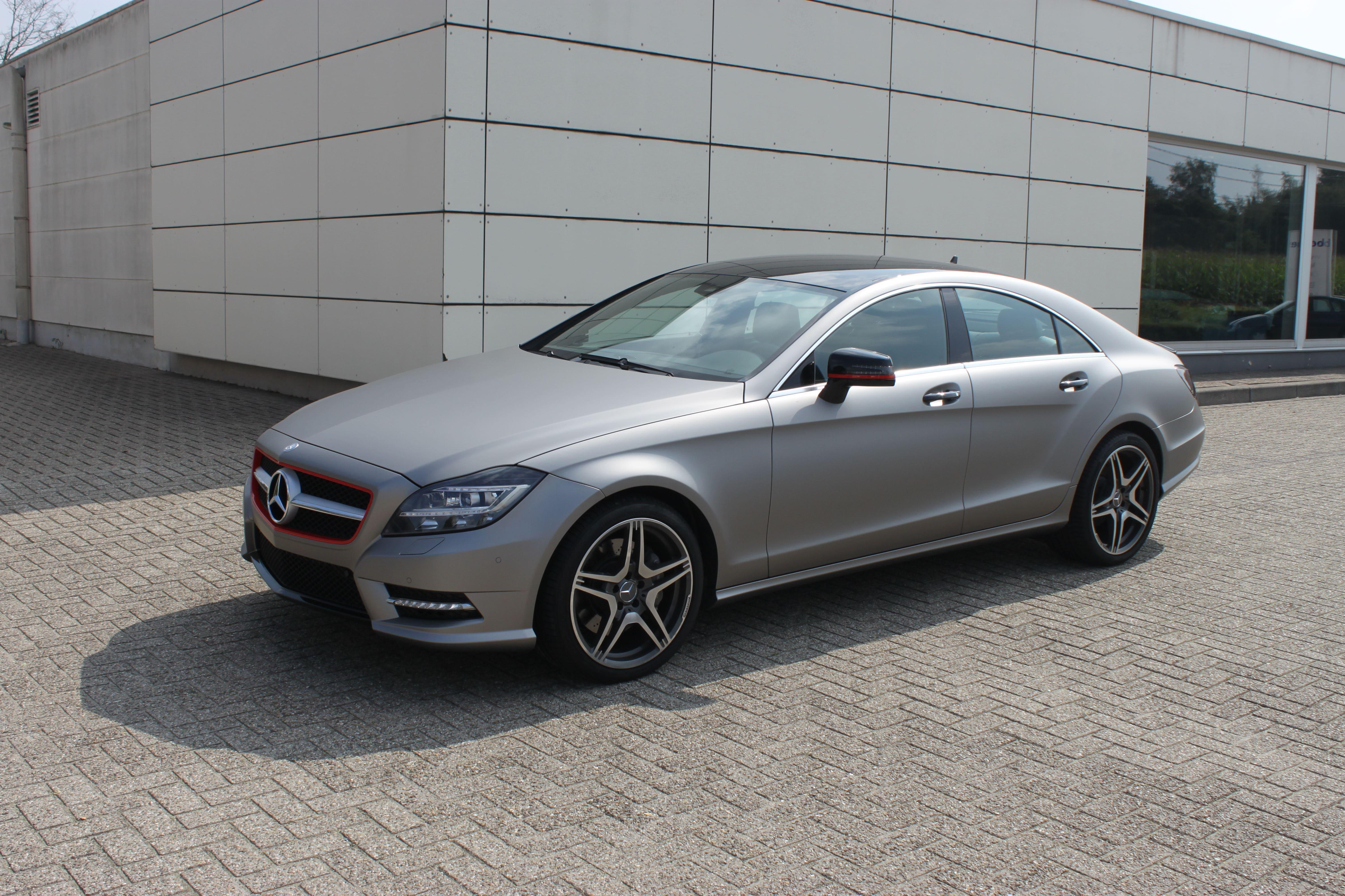 Mercedes CLS met Mat Grey Aluminium Wrap, Carwrapping door Wrapmyride.nu Foto-nr:6156, ©2020