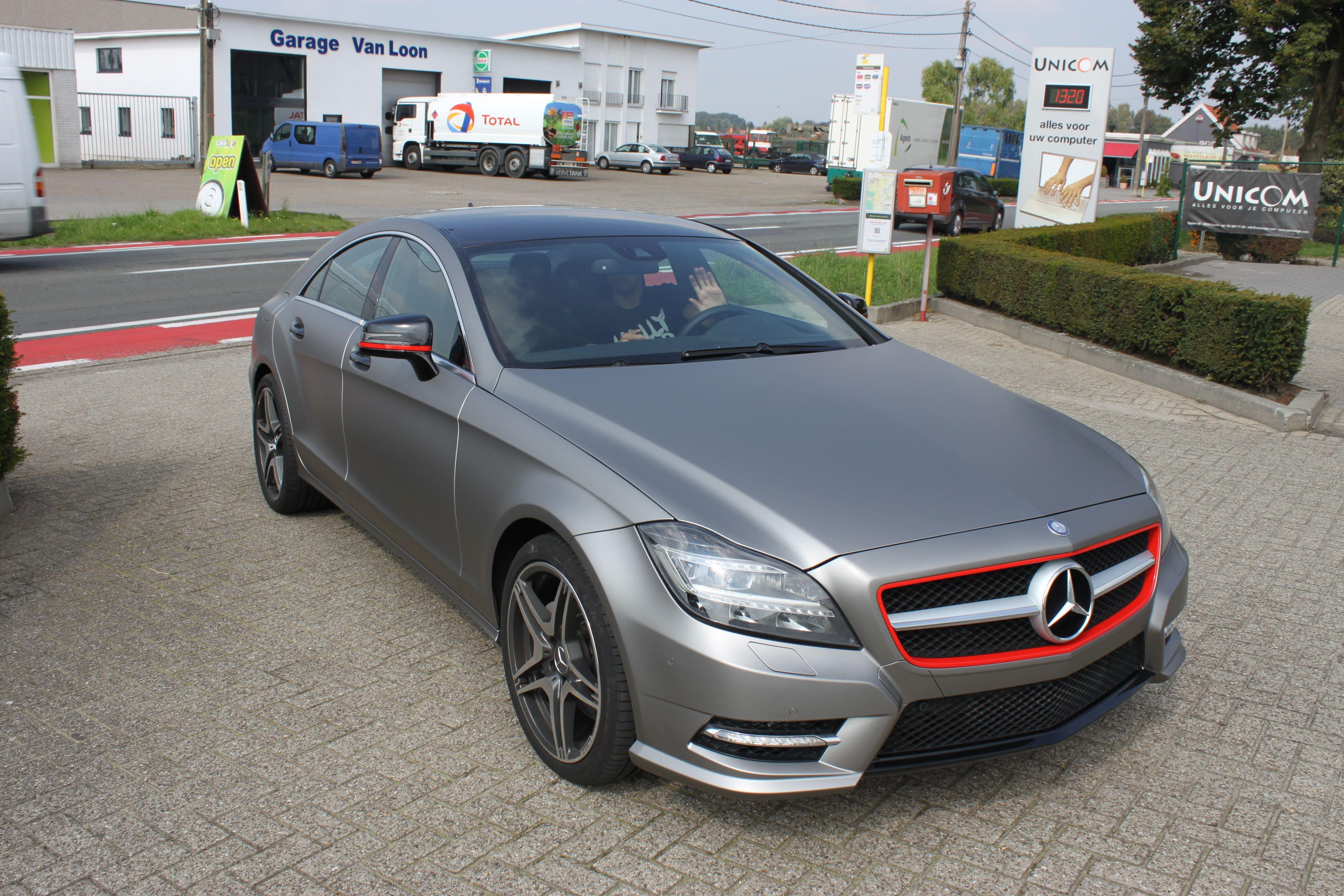 Mercedes CLS met Mat Grey Aluminium Wrap, Carwrapping door Wrapmyride.nu Foto-nr:6159, ©2020