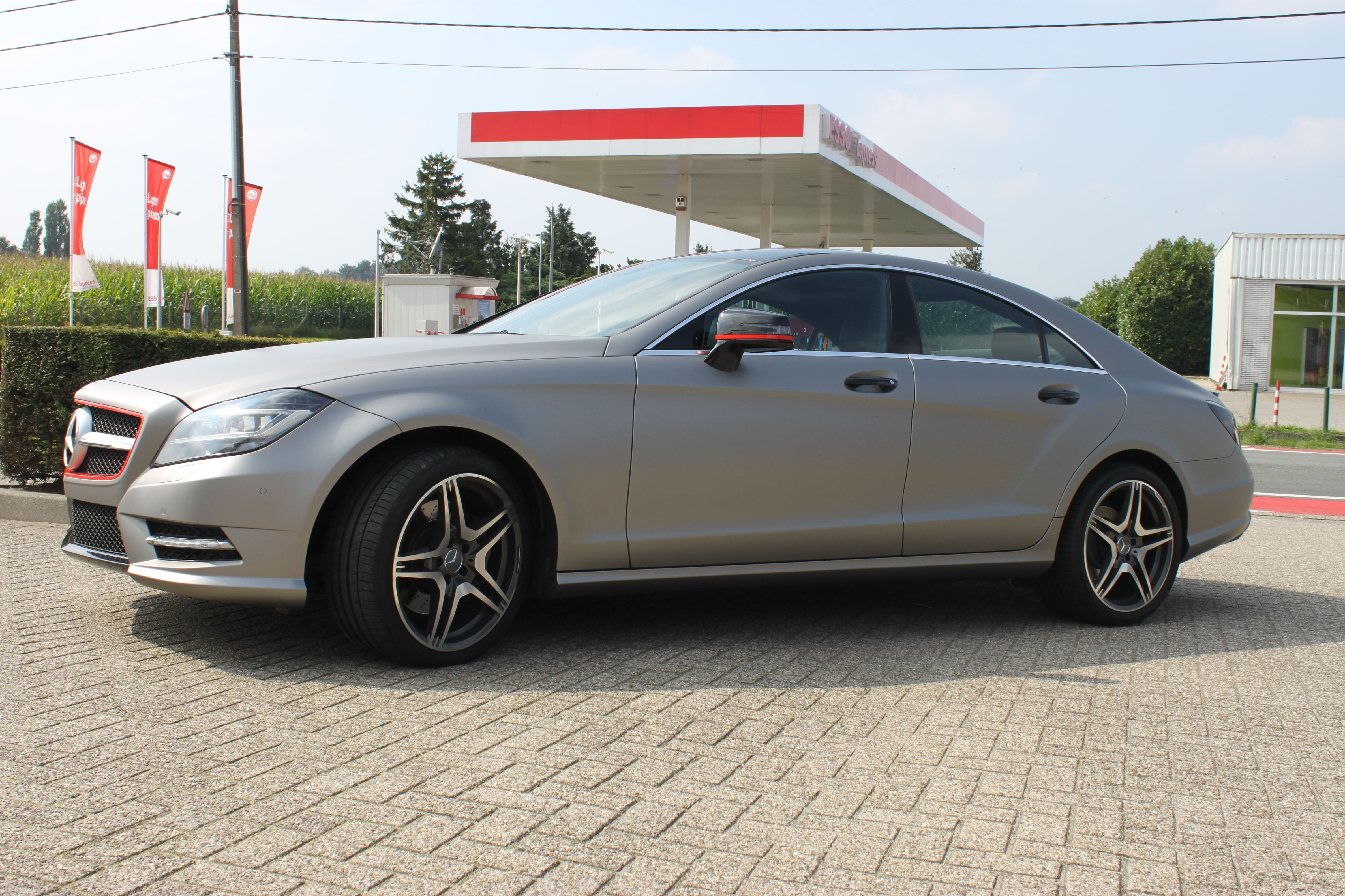 Mercedes CLS met Mat Grey Aluminium Wrap, Carwrapping door Wrapmyride.nu Foto-nr:6161, ©2020