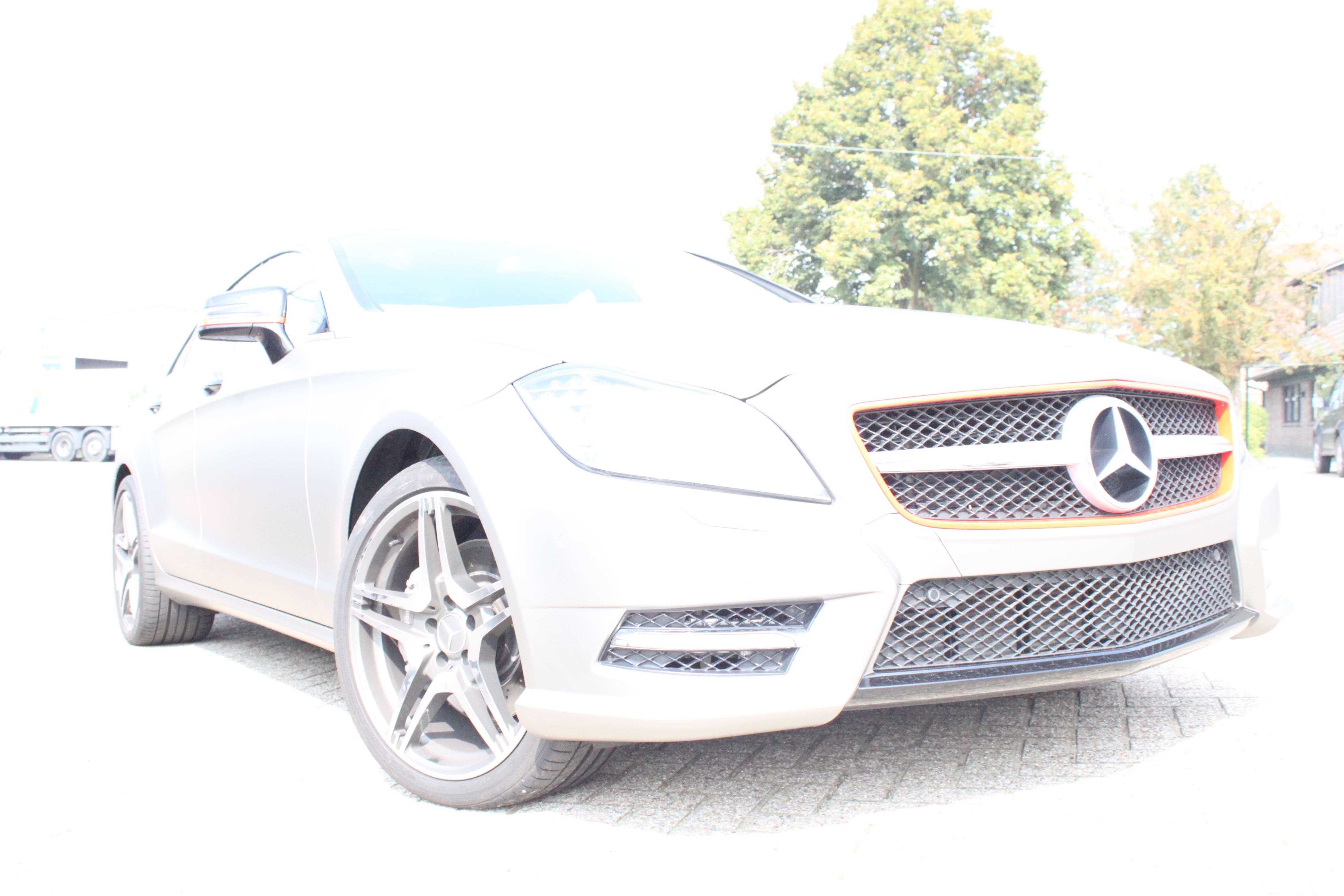 Mercedes CLS met Mat Grey Aluminium Wrap, Carwrapping door Wrapmyride.nu Foto-nr:6166, ©2020