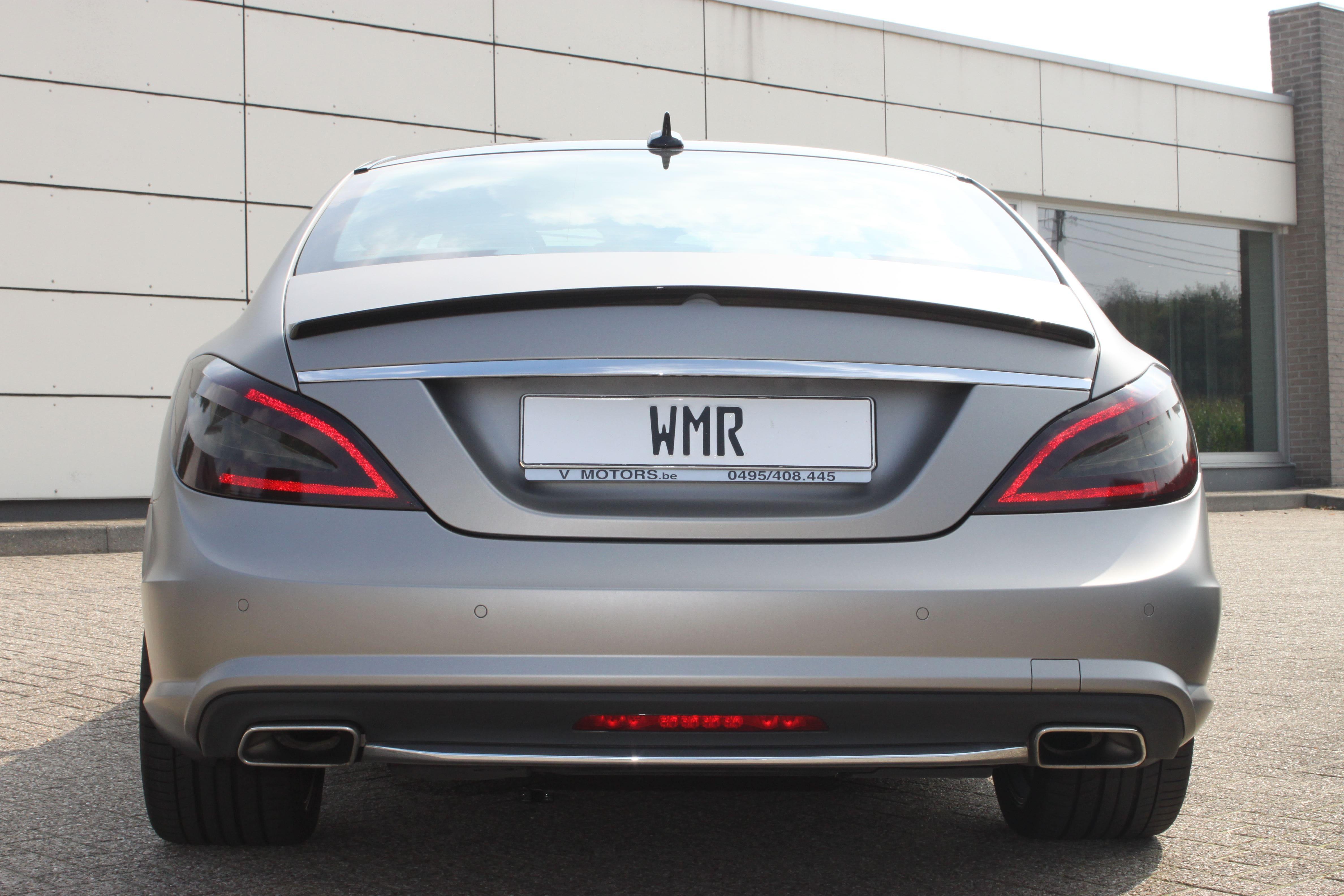 Mercedes CLS met Mat Grey Aluminium Wrap, Carwrapping door Wrapmyride.nu Foto-nr:6167, ©2020