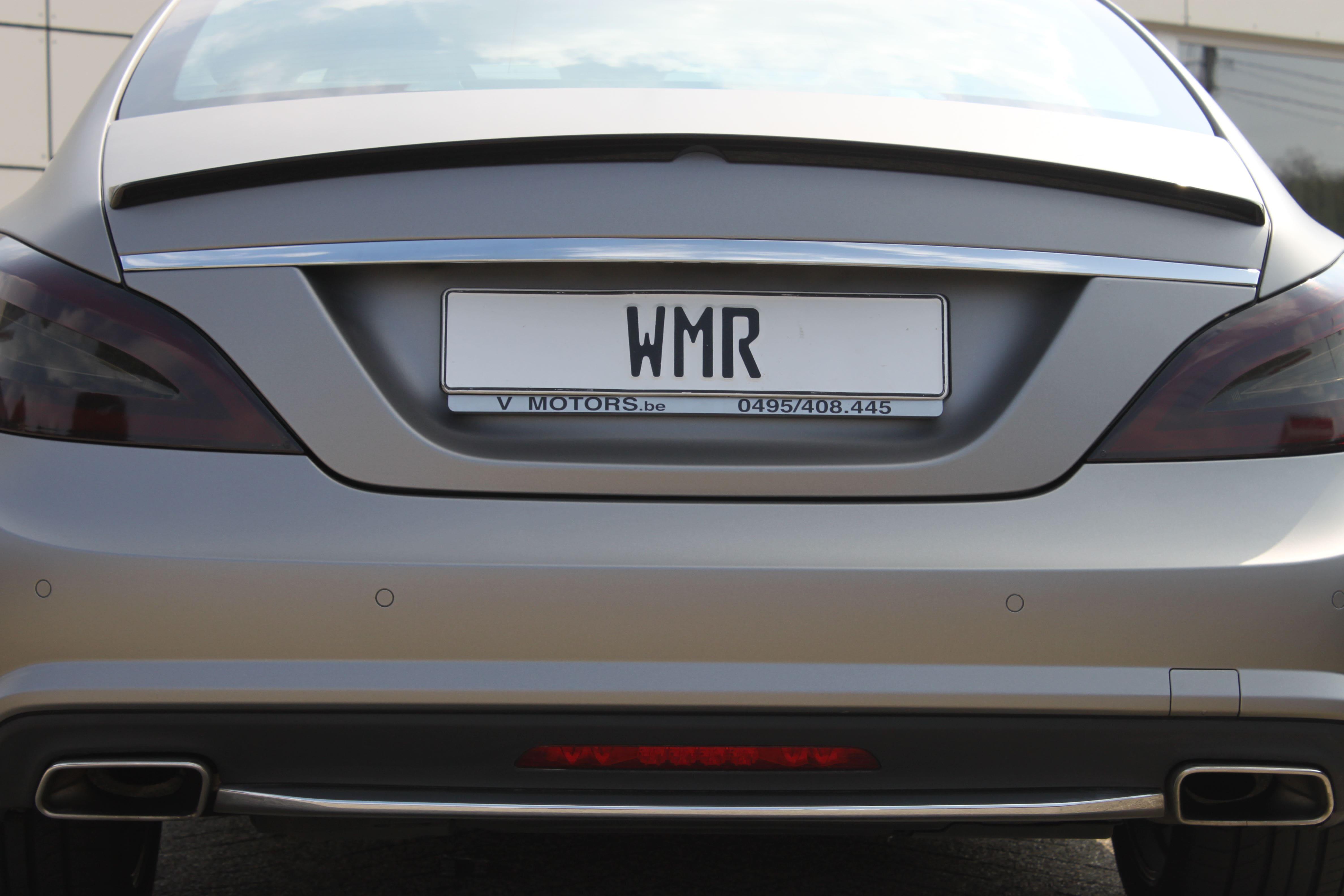 Mercedes CLS met Mat Grey Aluminium Wrap, Carwrapping door Wrapmyride.nu Foto-nr:6168, ©2020