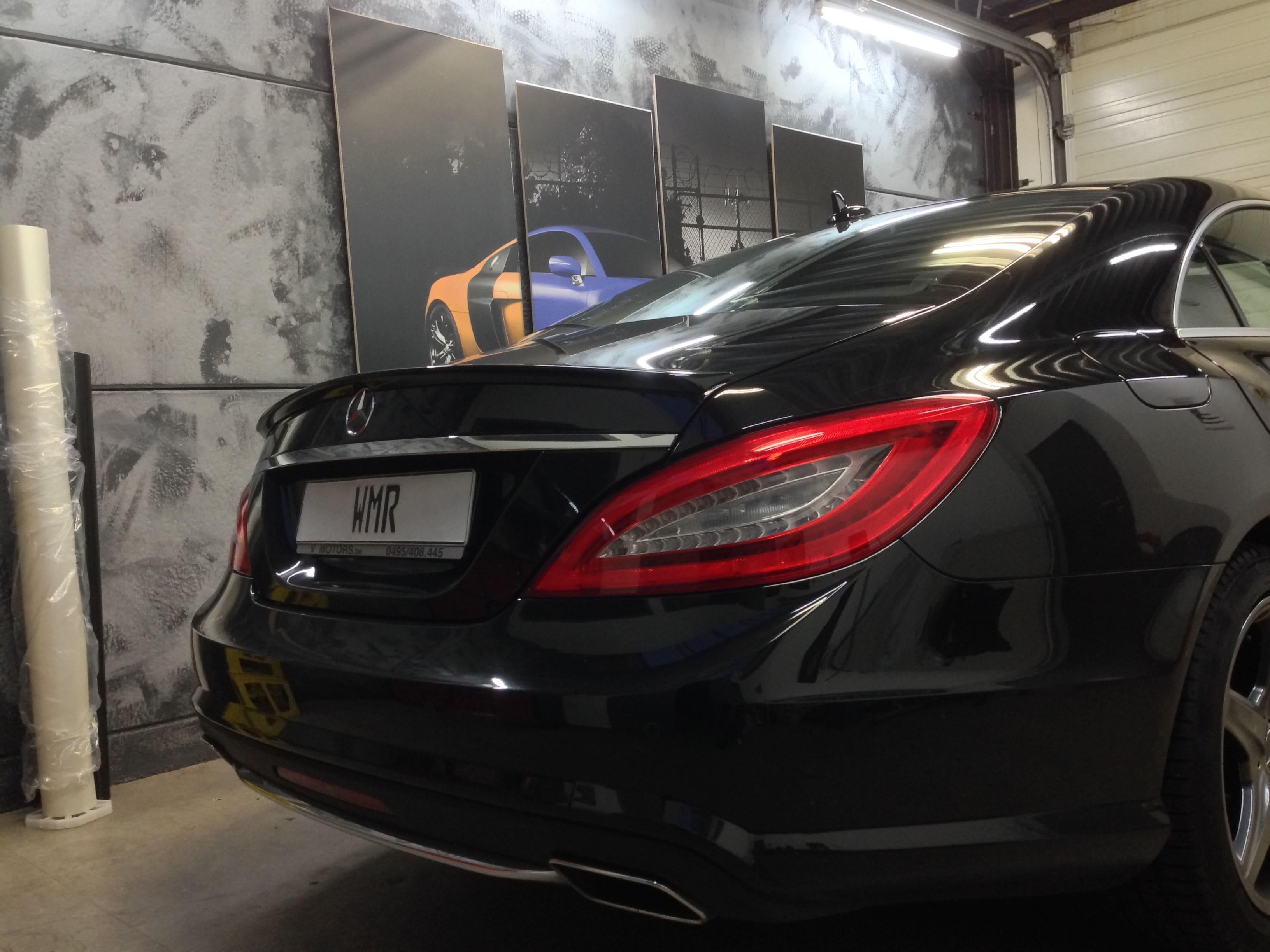 Mercedes CLS met White Satin Pearl Wrap, Carwrapping door Wrapmyride.nu Foto-nr:6174, ©2021